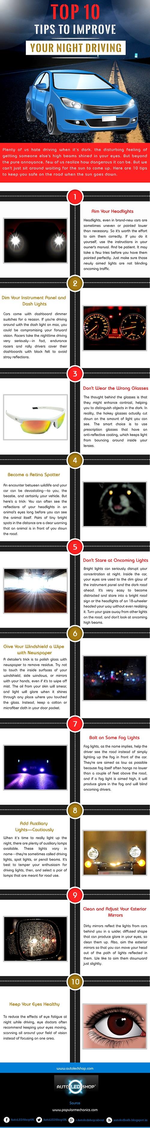 Tips to Improve Your Night Driving